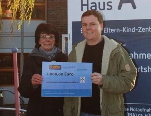 BoWo spendet an die Lübeck-Hilfe für krebskranke Kinder e.V.