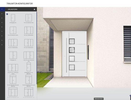 Neu: Konfigurator für Haustüren